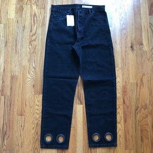 ASOS Black Denim Jeans with Rings